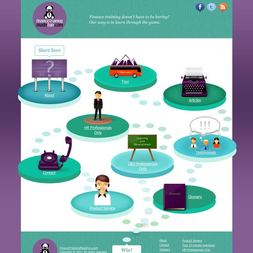 Fun b2b Website Design For Corporate Trainer (2 pages)