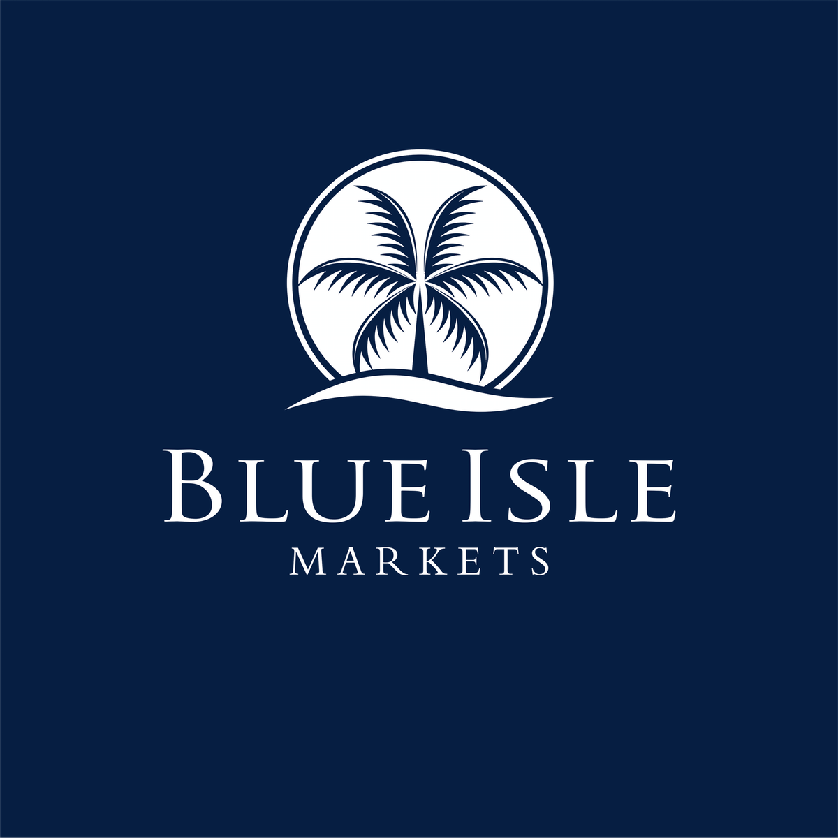 """Blue Isle Markets"" Logo"