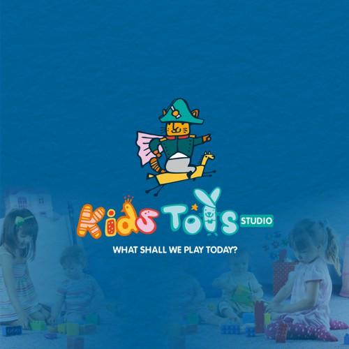 Веселый логотип для магазина игрушек