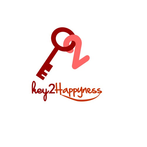 Logo for key2happiness - unique leather purse to fall in love with
