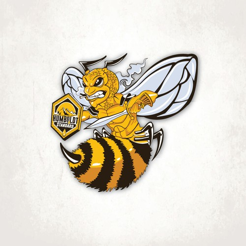 Humboldt Bee Warrior Illustration