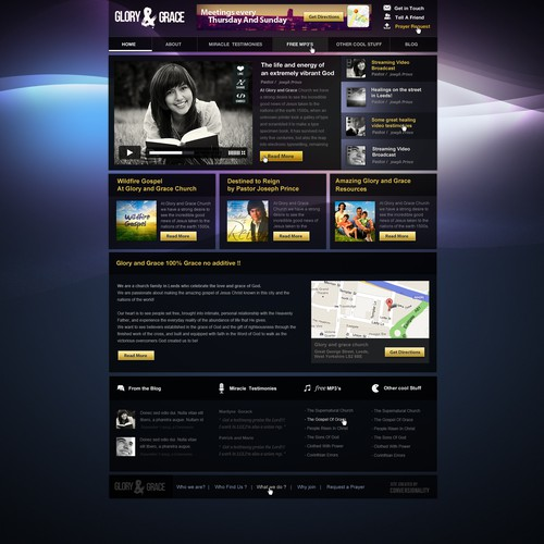 Wanted: Home Page Design (with a twist) - Detailed Wireframe Supplied!