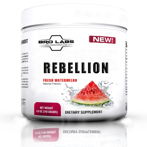 Create a gorgeous/mouth watering label for our watermelon flavored pre-workout stack.