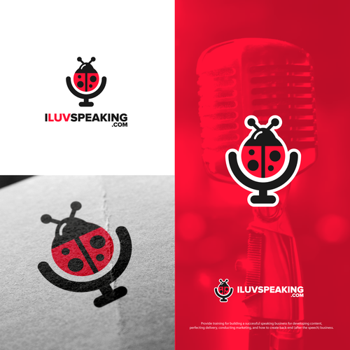 Bold logo for I Luv Speaking