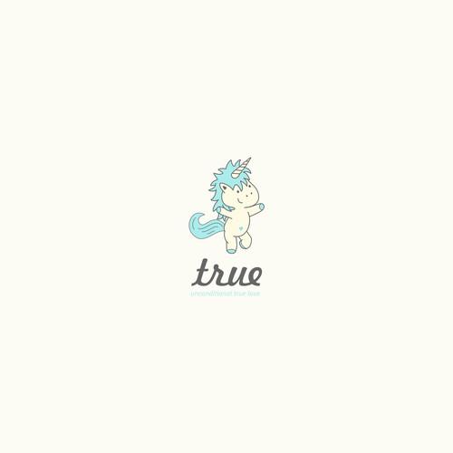Cute cute supercute unicorn logo