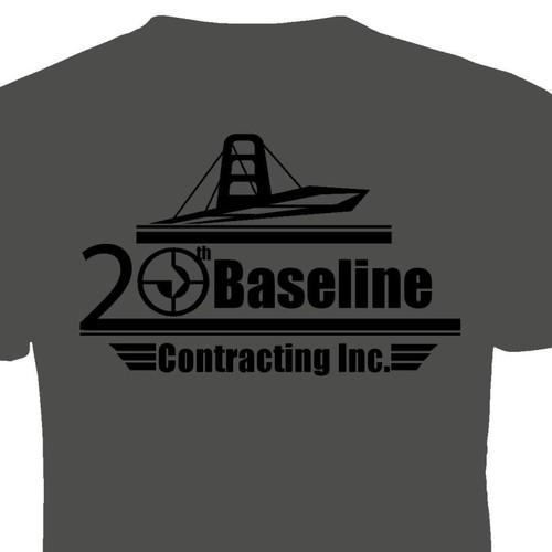 T-shirt design for the anniversary of a bridge company