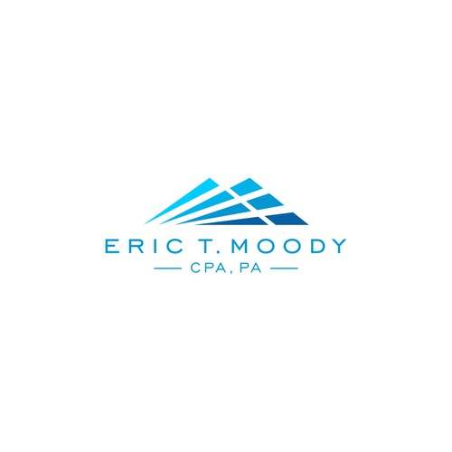 Design a simple clean logo for Eric T. Moody, CPA, PA