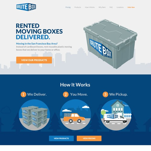 Brute Box Moving Landing Page