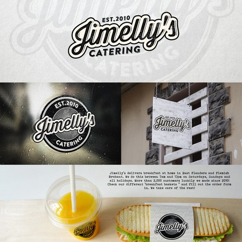 Logo for Jimelly's catering service