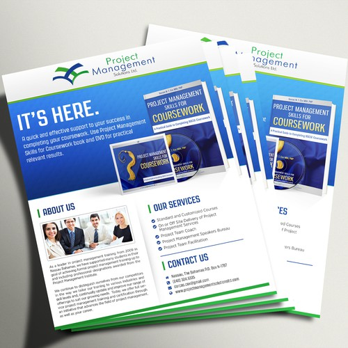 Create a flyer for Project Management Solutions Ltd