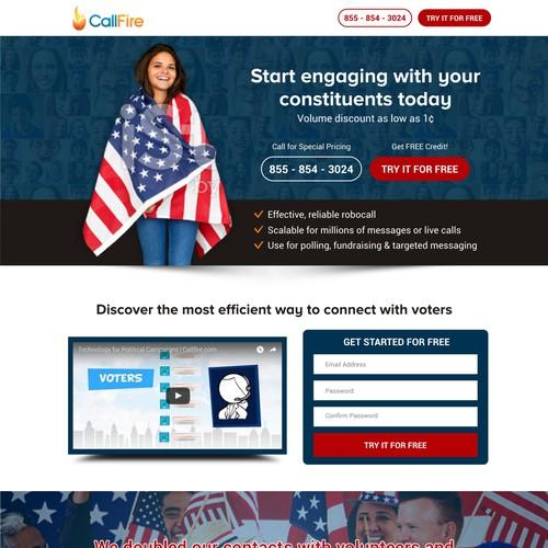 Landing Page For The political Platform - CallFire