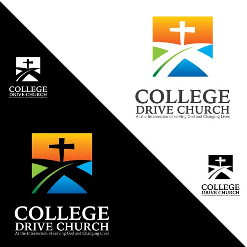 Create a logo for a church organization that is all about helping those in need and changing lives.