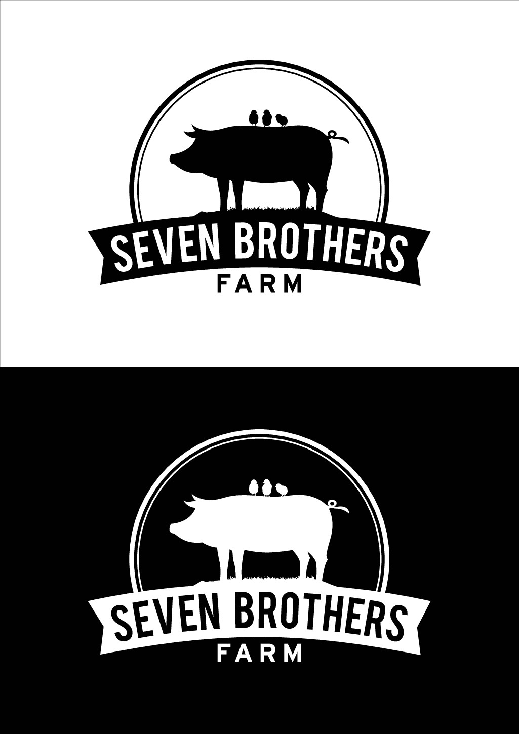 Design a simple eye-catching logo for Seven Brothers Farm