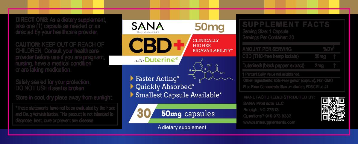 Sana CBD 50mg label