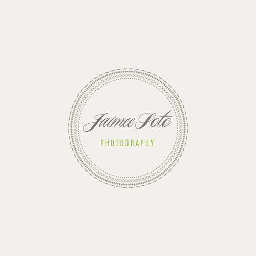 Vintage style logo for a photographer