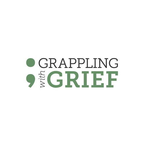 Bold Logo Concept for Grappling with Grief