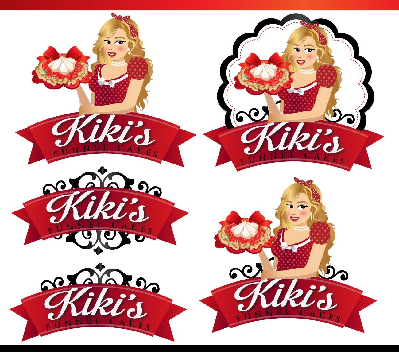 Create the next logo for Kiki's Funnel Cakes