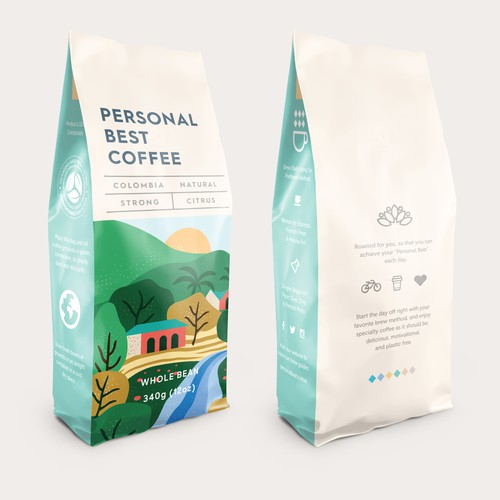 Personal Best Coffee - Bag Design
