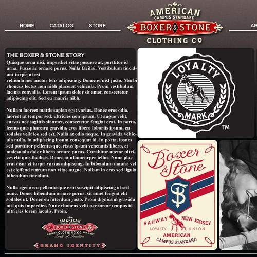 Boxer and Stone needs a new website design