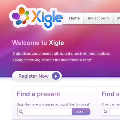 XIGLE - social network website design