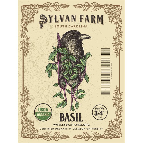 Label Design for Sylfan Farm herbs