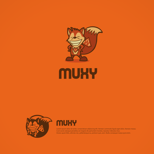 Muxy Logo and Character.