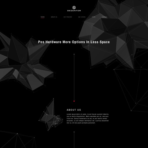 Landing page for Decenter