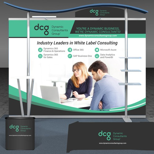 Trade Show Booth For A Technology Conference