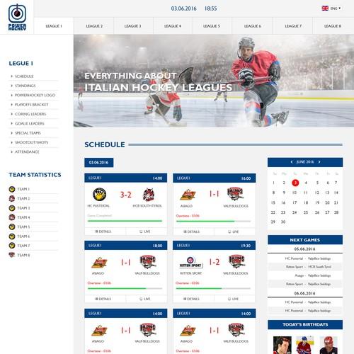 Sport statistics website