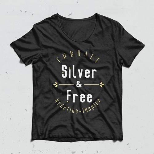 T-shirt Silver & Free