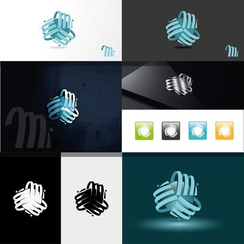 modern logo for initial MI