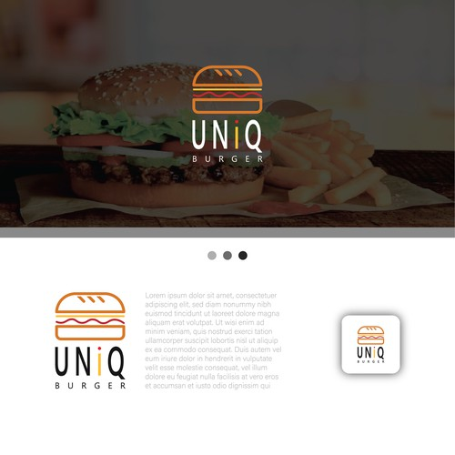 Minimalist Burger design logo