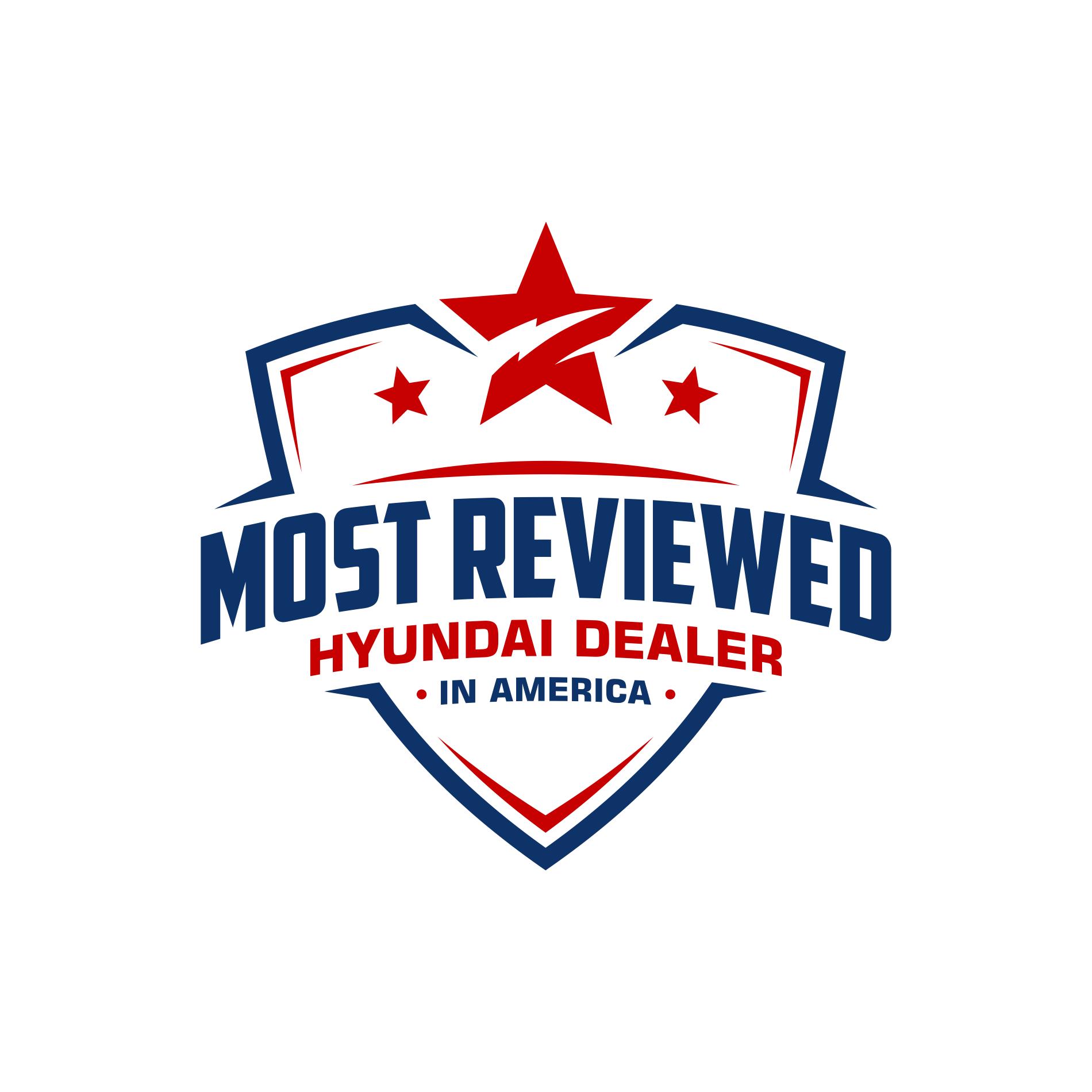 Design a creative badge logo for Most Reviewed Hyundai Dealer in America