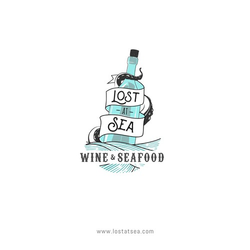 Sea inspired logo for a restaurant