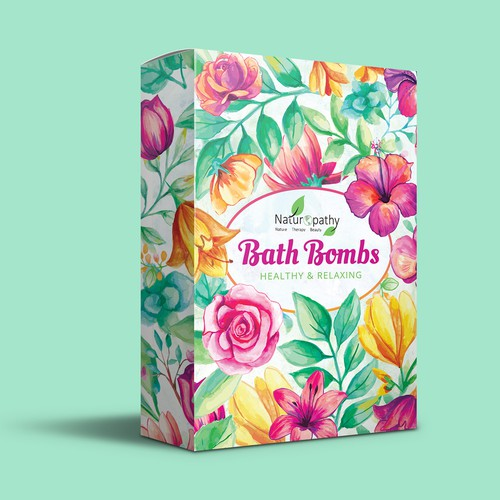 Bath Bombs packaging design