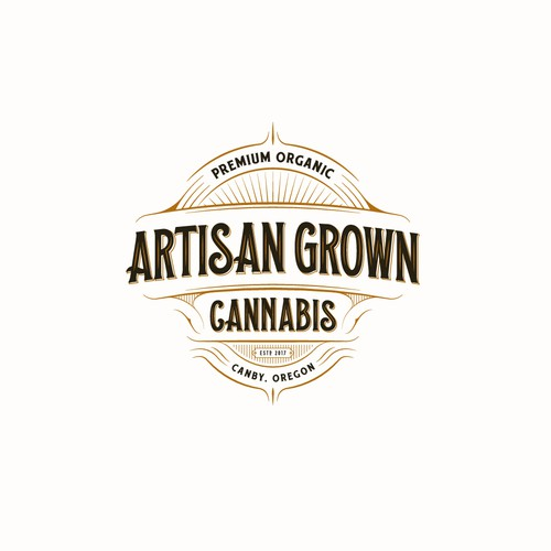 Logo for producers of high grade organic cannabis