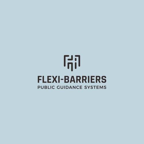 Lineart logo for crowd control company: Flexi-Barriers