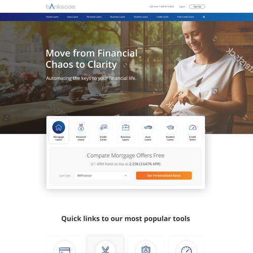 Home Page for Banks.com