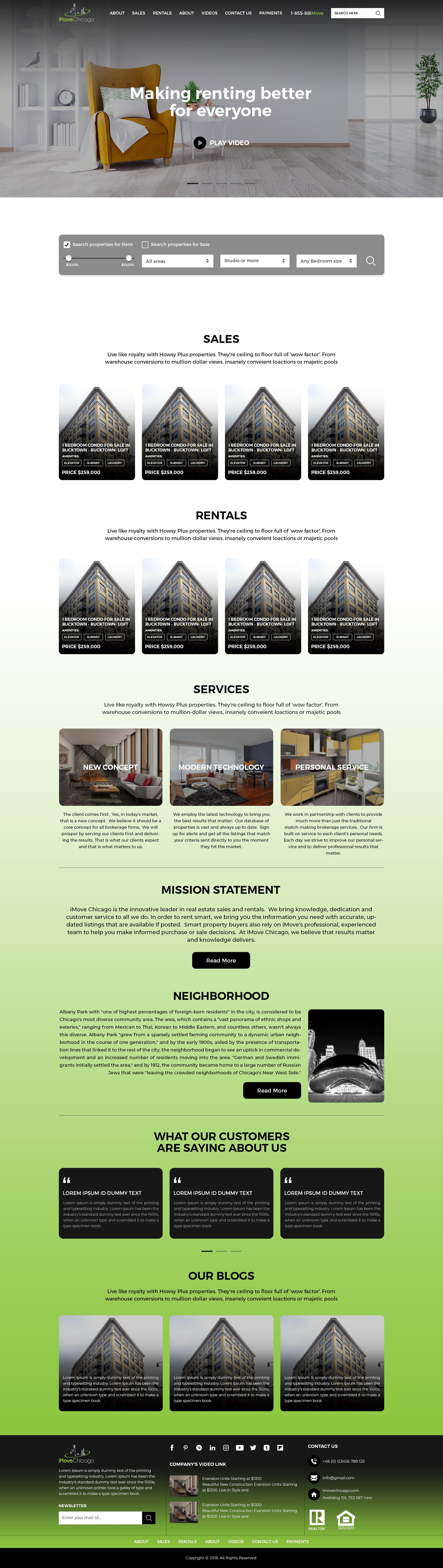 Redesign iMove Chicago Website
