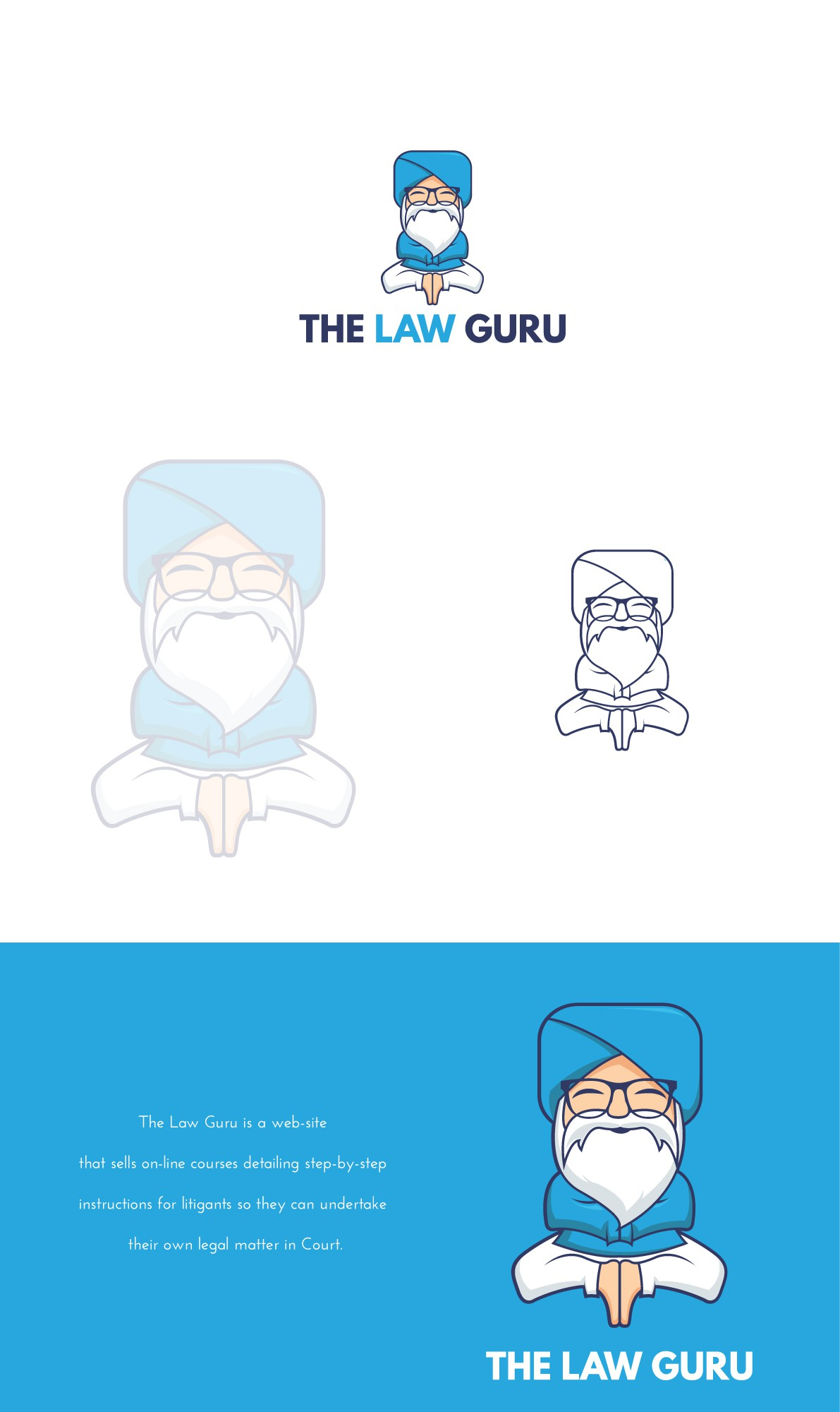 Law Guru logo: Fresh vibrant logo for web-site providing legal e-courses