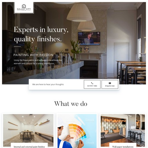 Website for Galaxy City Painting