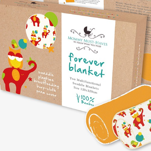 Create Colorful, Modern, Classic, or Retro Package: Unisex SwaddleBaby Blankets