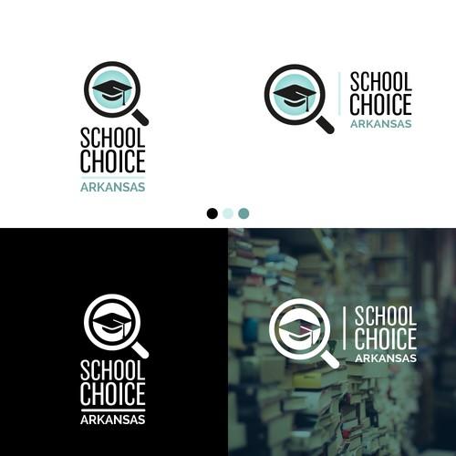 Bold modern concept for education platform.