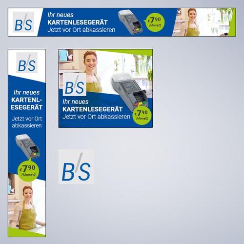 Banner design German market leader for cashless payments