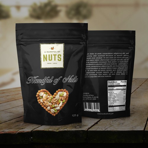Nuts pouch design