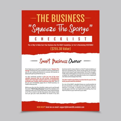 Business Checklist Flyer