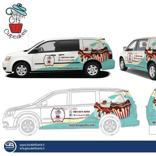 Queen City Cupcakes Delivery Van Design