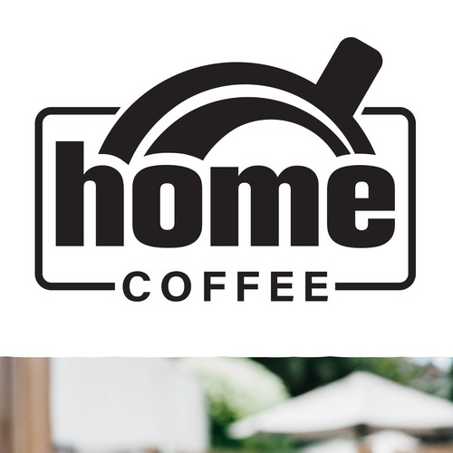 Clean logo for a coffee house