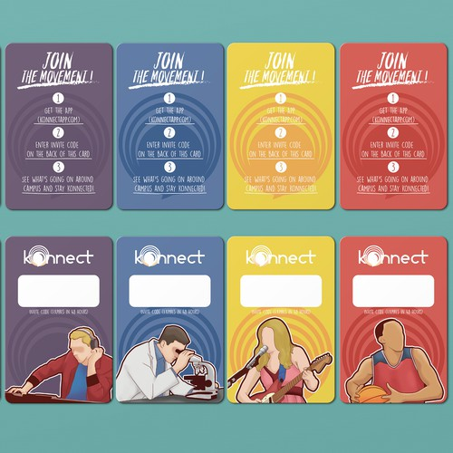 Card Design concept for Konnectapp