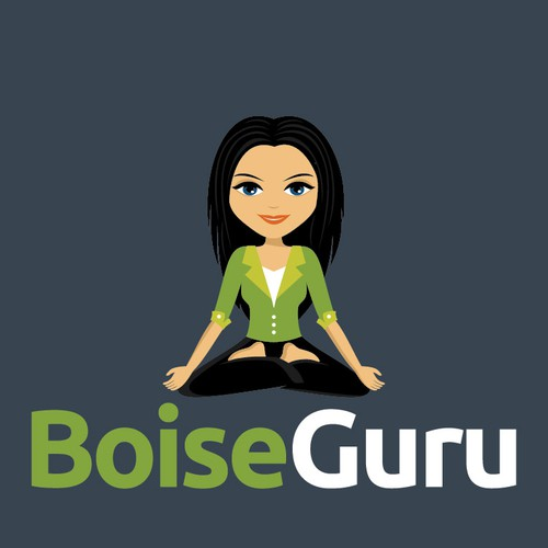 Create an illustrated guru logo for Boise Guru